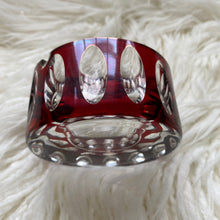 Load image into Gallery viewer, Vintage Midcentury Modern Ruby Cut Glass Ashtray c1960s