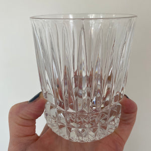 Vintage Set Of 8 Cut Crystal Double Old Fashion Rocks Glasses