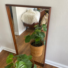 Load image into Gallery viewer, Vintage Solid Walnut MidCentury Mirror By American Of Martinsville
