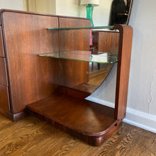 Load image into Gallery viewer, Vintage Deco Vanity Dresser With Full Length Mirror