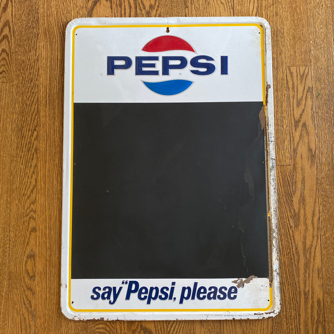 Vintage Pepsi Say Pepsi Please Metal Chalk Board Sign