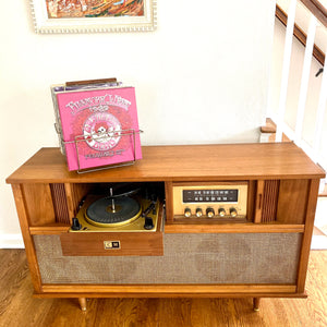 Vintage MidCentury Modern Tube Amplified Stereo Console With Bluetooth