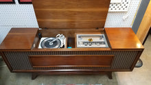 Load image into Gallery viewer, Vintage Mid Century Modern GE Console Stereo Record Player With Radio & Bluetooth 1967