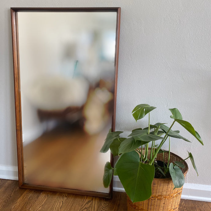 Vintage Solid Walnut MidCentury Mirror By American Of Martinsville