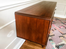 Load image into Gallery viewer, Vintage Danish Modern Credenza Attributed To Kai Kristensen With Locking Cabinet In Teak