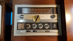 Vintage Mid Century Modern GE Console Stereo Record Player With Radio & Bluetooth 1967