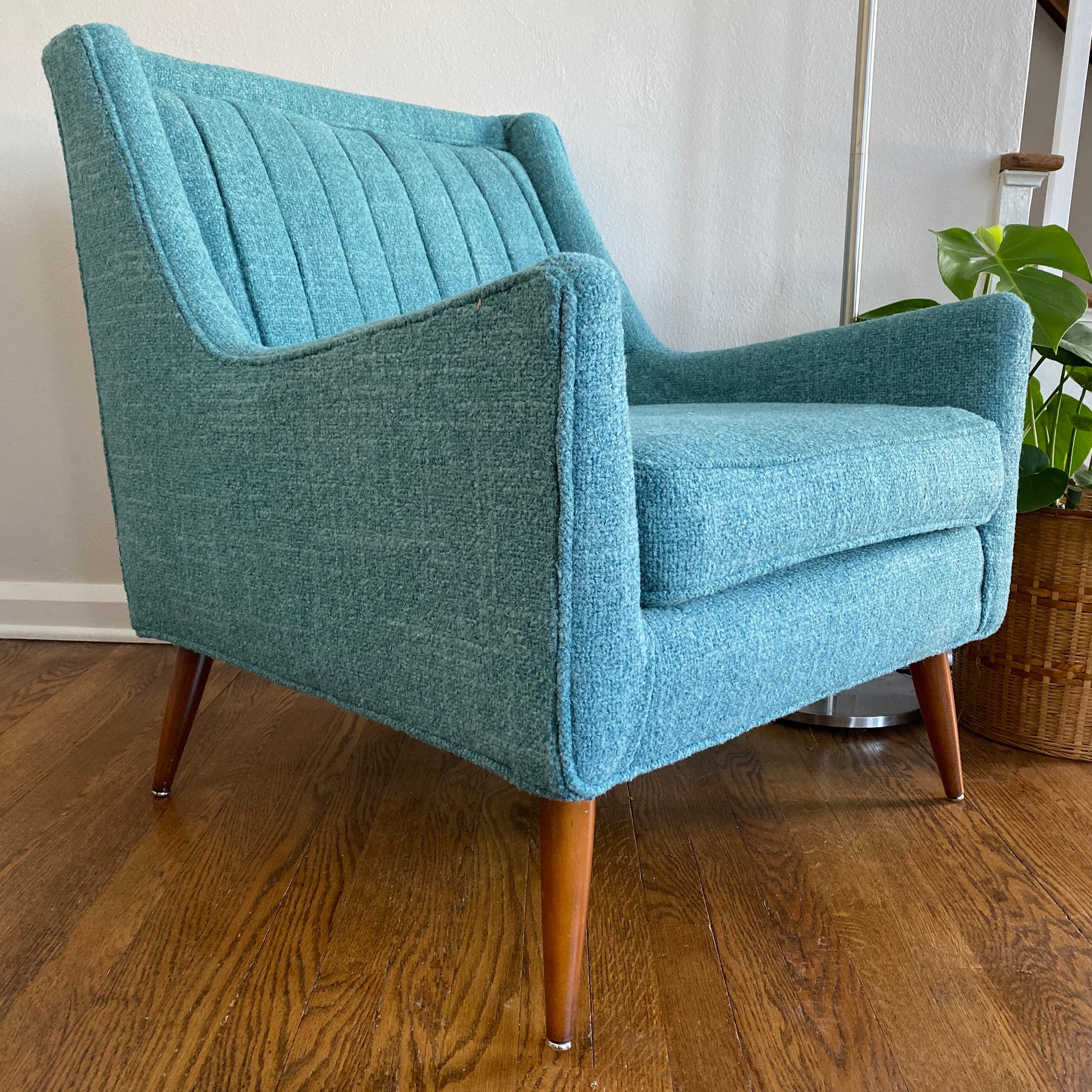 Marvelous Vintage Midcentury Modern Lounge Armchair Newly Upholstered Alphanode Cool Chair Designs And Ideas Alphanodeonline