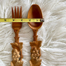 Load image into Gallery viewer, Vintage Boho Hand Carved Wooden Server Set