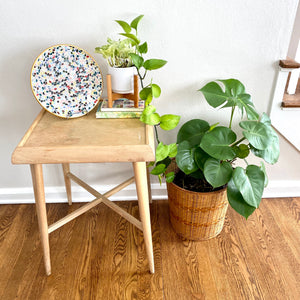 Vintage MidCentury Modern Side Table Stand Birch Finish