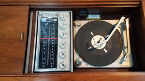 Vintage MidCentury Magnavox Stereo Record Player With Bluetooth Refurbished