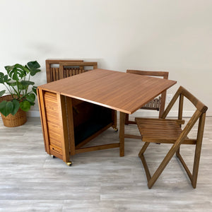 Vintage MidCentury Modern Expandable Table Set