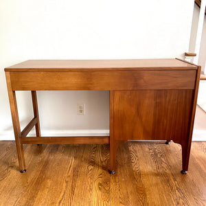 Vintage Mid Century Modern Walnut Desk With Matching Chair
