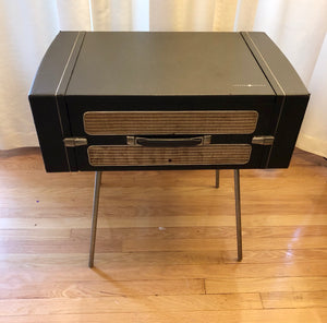 Vintage Portable Record Player Tube Amplified By GE