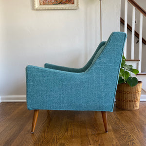 Vintage MidCentury Modern Lounge Armchair Newly Upholstered