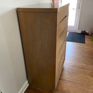 Vintage MidCentury Modern 5 Drawer Dresser Chest