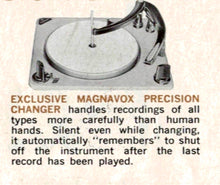 Load image into Gallery viewer, Vintage Magnavox 1957 Tube Amplified Record Player