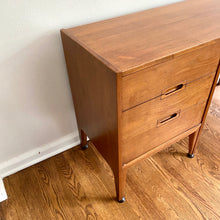 Load image into Gallery viewer, Vintage Mid Century Modern Walnut Desk With Matching Chair