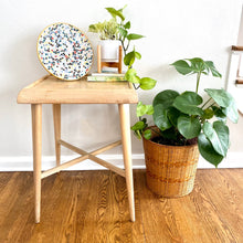 Load image into Gallery viewer, Vintage MidCentury Modern Side Table Stand Birch Finish