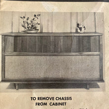 Load image into Gallery viewer, Vintage MidCentury Modern Tube Amplified Stereo Console With Bluetooth