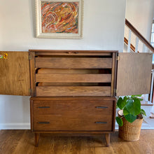 Load image into Gallery viewer, Vintage MidCentury Modern Walnut 5 Drawer Chest