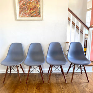 Modern Eames Style Shell Chairs With Eiffel Tower Bases