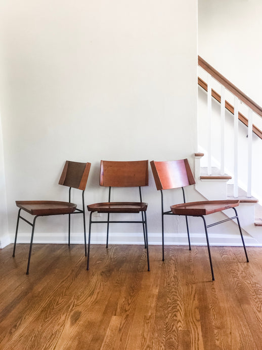 Vintage MidCentury Modern Shovel Style Chairs IMO Paul McCobb