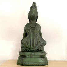 Load image into Gallery viewer, Vintage 70s Kwan Yin Large Ceramic Statue