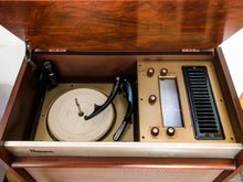 Load image into Gallery viewer, Vintage Mid Century Modern Tube Amplified Record Player With Bluetooth