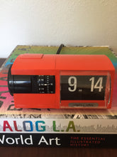 Load image into Gallery viewer, Vintage MidCentury Modern Solari & Udine c Orange Flip Clock From Italy