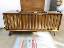 Load image into Gallery viewer, Vintage MidCentury Modern Stereo Record Player Console With Bluetooth