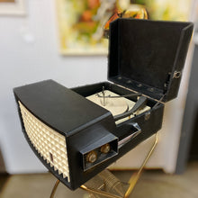 Load image into Gallery viewer, Vintage Tube Amplified Portable Record Player With Stand