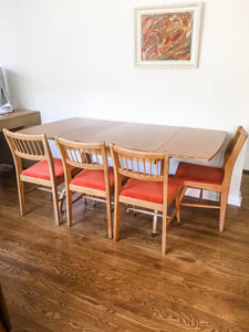 Vintage Mid Century Modern Dining Set Can Seat Up To 8