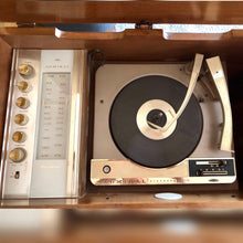 Load image into Gallery viewer, Vintage Mid Century Modern Stereo Record Player With Added Bluetooth