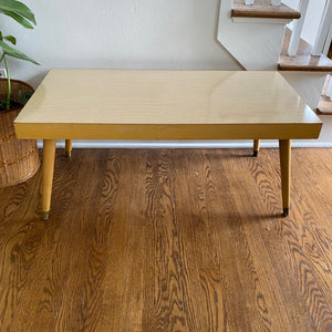 Vintage MidCentury Modern Blonde Coffee Table