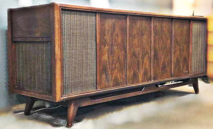 Vintage Console Stereo Record Player By Magnavox