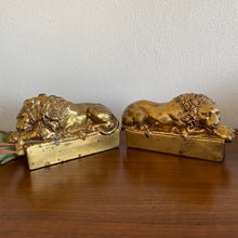 Load image into Gallery viewer, Vintage Brass Lion Antonio Canova Bookends Pair