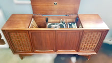 Load image into Gallery viewer, Vintage Record Player With Added Bluetooth Tube Amplified 1963 RCA
