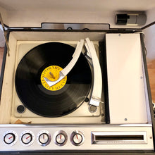 Load image into Gallery viewer, Vintage Portable Record Player Tube Amplified By GE