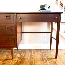 Load image into Gallery viewer, Vintage MidCentury Student Desk In Walnut By Stanley
