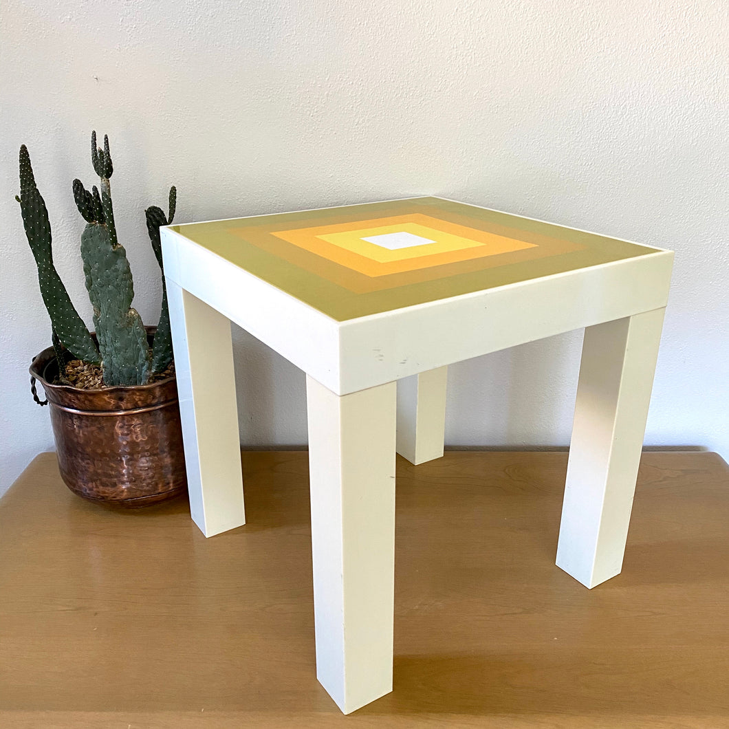 Vintage 70s Groovy Accent Table