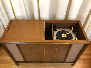 Vintage MidCentury Tube Amplified Record Player By Magnavox Refurbished With Added Bluetooth
