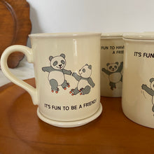 Load image into Gallery viewer, Vintage 80's Panda Bear Mug Set By Hallmark (4)