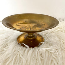 Load image into Gallery viewer, Vintage Solid Brass Pedestal Bowl
