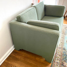 Load image into Gallery viewer, Vintage MidCentury Green Love Seat Sofa