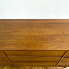 Load image into Gallery viewer, Vintage MidCentury Modern Walnut Dresser With 9 Drawers