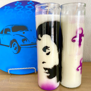Vintage Inspired Rock Artist Prayer Candles