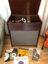 Load image into Gallery viewer, Vintage Mid Century Tube Amplified Magnavox Record Player With Voice Of Music Record Changer 1957