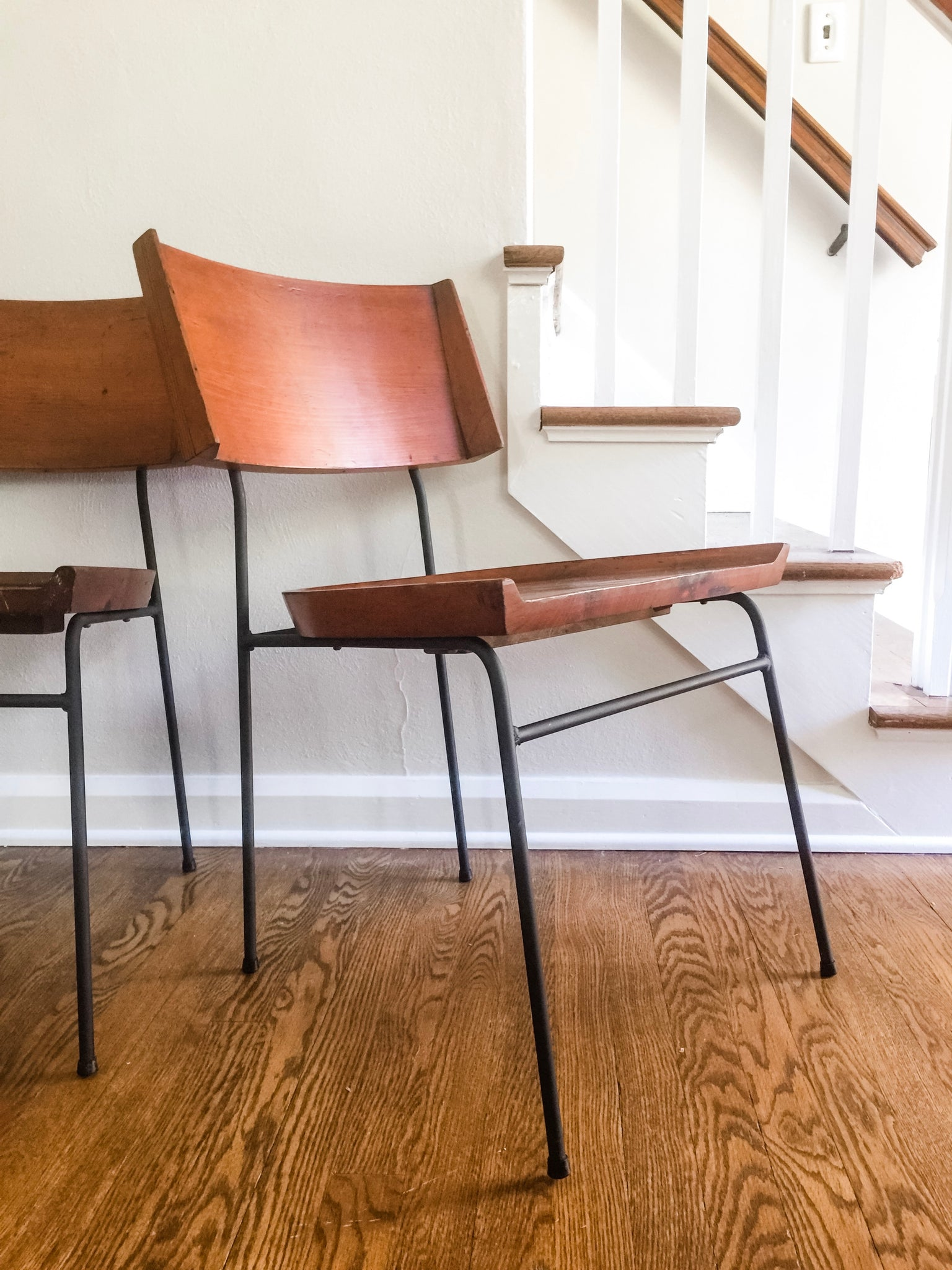 Vintage Midcentury Modern Shovel Style Chairs Imo Paul