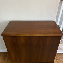 Load image into Gallery viewer, Vintage MidCentury Modern Bar Cabinet With Extending Top