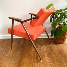 Load image into Gallery viewer, Vintage Mid Century Modern Orange Lounge Chair